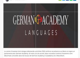 Le centre de la langue allemande ÖSD renforce sa présence au Maroc